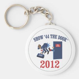 Engranaje de la campaña de Romney-Ryan Llavero Redondo Tipo Pin