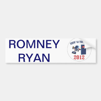 Engranaje de la campaña de Romney-Ryan Pegatina Para Auto