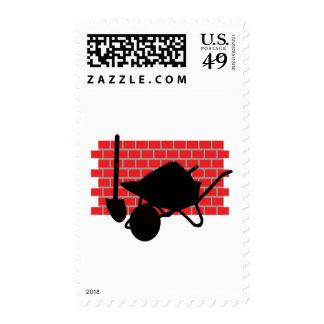 engranaje de la capa de ladrillo sellos postales