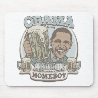 Engranaje de la cerveza del Homeboy de Obama Tapete De Raton