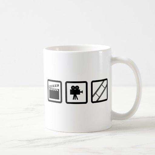 engranaje de la cinematografía taza de café