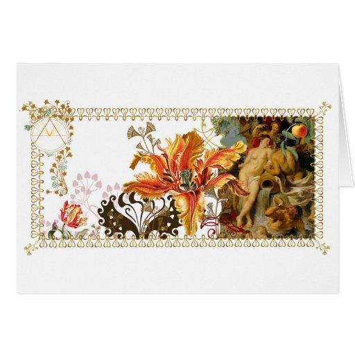 Engranaje de la decoración del arte de la gama de  tarjeta de felicitación