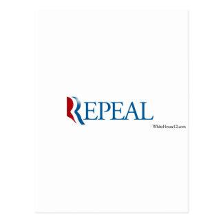 Engranaje de la derogación de la elección 2012 postales