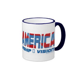 Engranaje de la dirección de Barack América Taza De Dos Colores