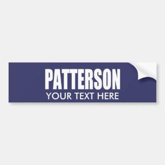 Engranaje de la elección de DAVID PATTERSON Etiqueta De Parachoque