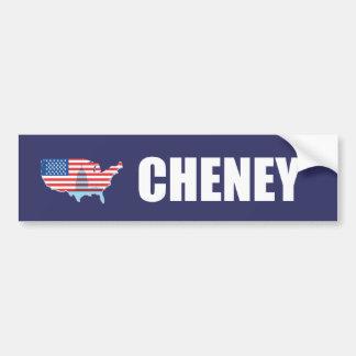 Engranaje de la elección de DICK CHENEY Etiqueta De Parachoque