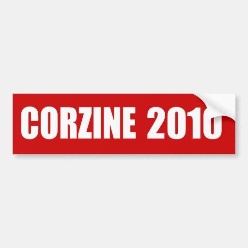 Engranaje de la elección de JON CORZINE Pegatina De Parachoque