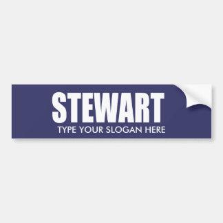 Engranaje de la elección de JUAN STEWART Pegatina Para Auto