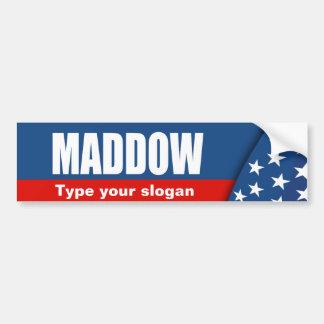 Engranaje de la elección de MADDOW Etiqueta De Parachoque