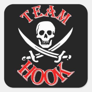 Engranaje de la fan de capitán Hook Pegatinas Cuadradas