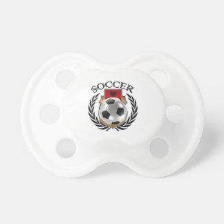 Engranaje de la fan del fútbol 2016 de Albania Chupetes De Bebe