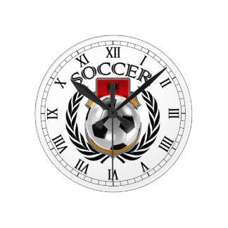 Engranaje de la fan del fútbol 2016 de Albania Reloj Redondo Mediano