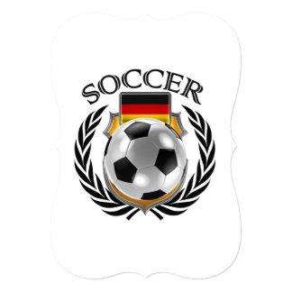 """Engranaje de la fan del fútbol 2016 de Alemania Invitación 5"""" X 7"""""""