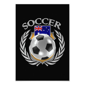 """Engranaje de la fan del fútbol 2016 de Australia Invitación 3.5"""" X 5"""""""