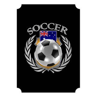 """Engranaje de la fan del fútbol 2016 de Australia Invitación 5"""" X 7"""""""