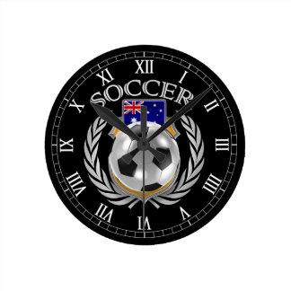 Engranaje de la fan del fútbol 2016 de Australia Reloj Redondo Mediano