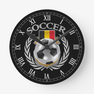 Engranaje de la fan del fútbol 2016 de Bélgica Reloj Redondo Mediano