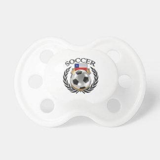 Engranaje de la fan del fútbol 2016 de Chile Chupete De Bebe