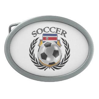 Engranaje de la fan del fútbol 2016 de Costa Rica Hebillas Cinturón Ovales