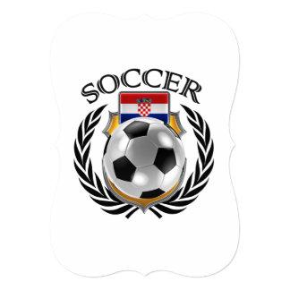 """Engranaje de la fan del fútbol 2016 de Croacia Invitación 5"""" X 7"""""""