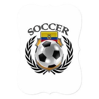 """Engranaje de la fan del fútbol 2016 de Ecuador Invitación 5"""" X 7"""""""