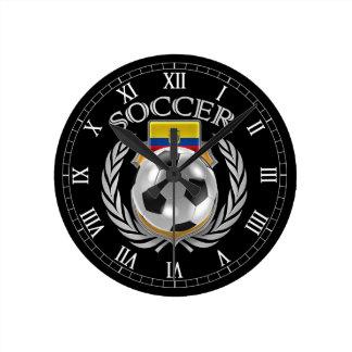 Engranaje de la fan del fútbol 2016 de Ecuador Reloj Redondo Mediano