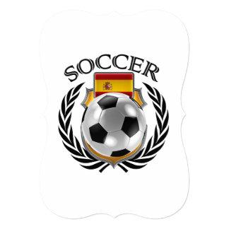 """Engranaje de la fan del fútbol 2016 de España Invitación 5"""" X 7"""""""