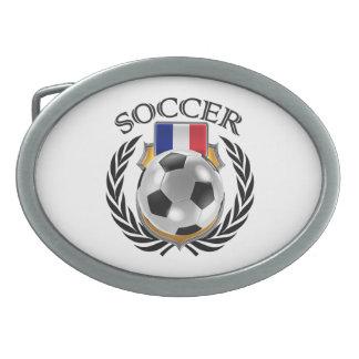Engranaje de la fan del fútbol 2016 de Francia Hebillas De Cinturón Ovales