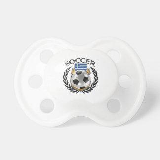 Engranaje de la fan del fútbol 2016 de Grecia Chupete De Bebe