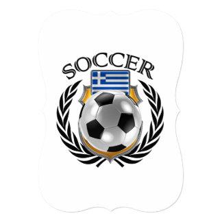 """Engranaje de la fan del fútbol 2016 de Grecia Invitación 5"""" X 7"""""""