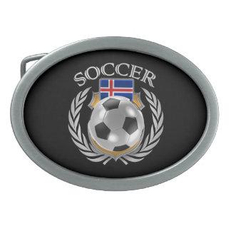 Engranaje de la fan del fútbol 2016 de Islandia Hebilla Cinturón Oval