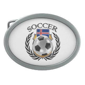 Engranaje de la fan del fútbol 2016 de Islandia Hebillas De Cinturon Ovales