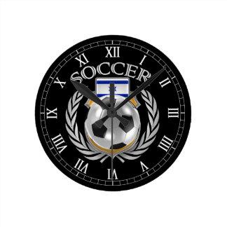 Engranaje de la fan del fútbol 2016 de Israel Reloj Redondo Mediano
