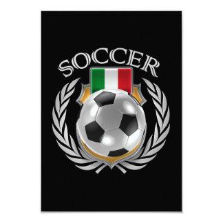 """Engranaje de la fan del fútbol 2016 de Italia Invitación 3.5"""" X 5"""""""