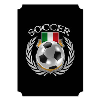 """Engranaje de la fan del fútbol 2016 de Italia Invitación 5"""" X 7"""""""