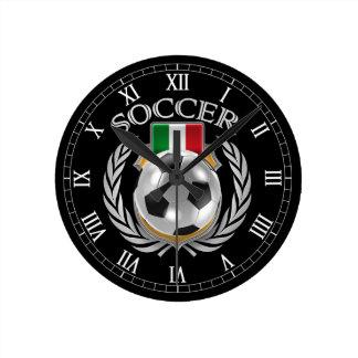 Engranaje de la fan del fútbol 2016 de Italia Reloj Redondo Mediano