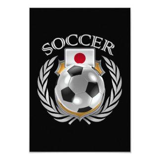 """Engranaje de la fan del fútbol 2016 de Japón Invitación 3.5"""" X 5"""""""