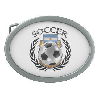 Engranaje de la fan del fútbol 2016 de la hebilla de cinturón oval