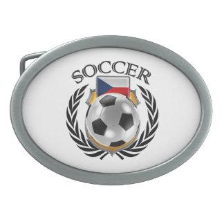 Engranaje de la fan del fútbol 2016 de la hebillas de cinturón ovales