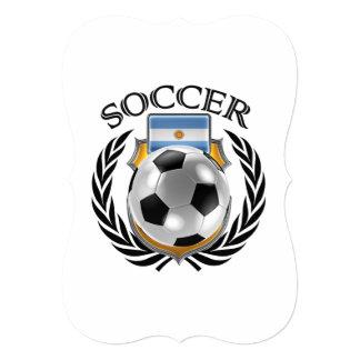 """Engranaje de la fan del fútbol 2016 de la invitación 5"""" x 7"""""""