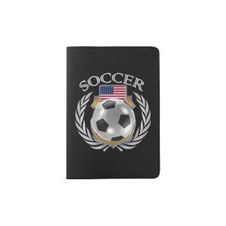 Engranaje de la fan del fútbol 2016 de los porta pasaportes
