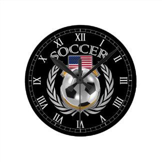 Engranaje de la fan del fútbol 2016 de los reloj redondo mediano