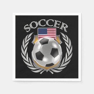 Engranaje de la fan del fútbol 2016 de los servilletas desechables