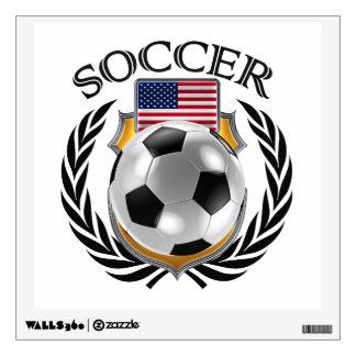 Engranaje de la fan del fútbol 2016 de los vinilo decorativo
