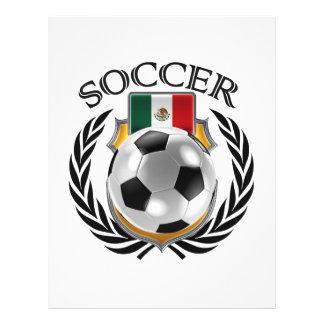 """Engranaje de la fan del fútbol 2016 de México Folleto 8.5"""" X 11"""""""