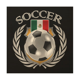 Engranaje de la fan del fútbol 2016 de México Impresiones En Madera