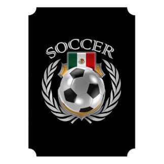 """Engranaje de la fan del fútbol 2016 de México Invitación 5"""" X 7"""""""
