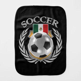 Engranaje de la fan del fútbol 2016 de México Paños De Bebé