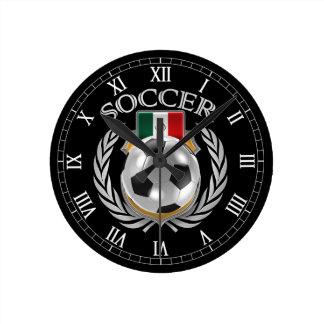 Engranaje de la fan del fútbol 2016 de México Reloj Redondo Mediano