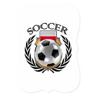 """Engranaje de la fan del fútbol 2016 de Polonia Invitación 5"""" X 7"""""""